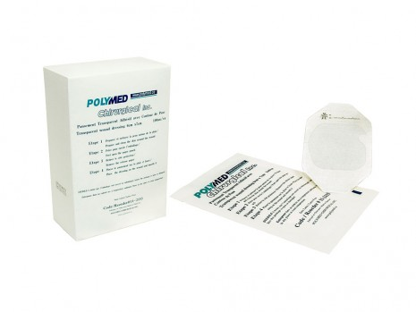 TRANSPARENT ADHESIVE DRESSING WITH CONTOUR, POLYMED