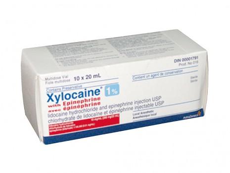XYLOCAINE SANS ÉPINÉPHRINE