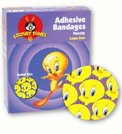 BANDAGE PLASTIC ADHESIVE SPOTS ROUND KID DESIGN STERILE LATEX-FREE