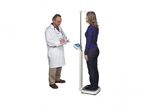 ELECTRONIC PHYSICIAN SCALE WITH HEIGHT ROD HS-250 Model