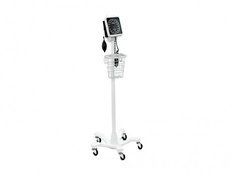 MOBILE SPHYGMOMANOMETER  WELCH ALLYN WITH BASKET