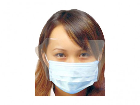 EAR LOOP FACE MASK WITH SHIELD