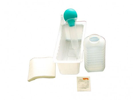 STERILE SINGLE USE BULB IRRIGATION TRAY CLINI-TRAY